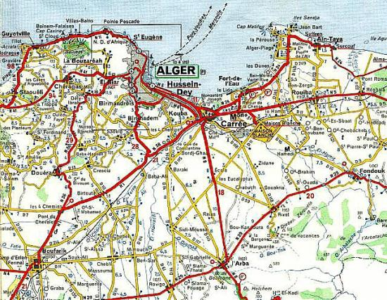 Carte du plan du grand ALGER