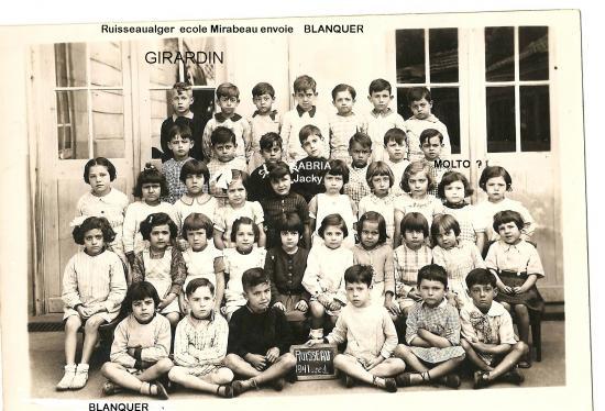 Ecole MIRABEAU 1941