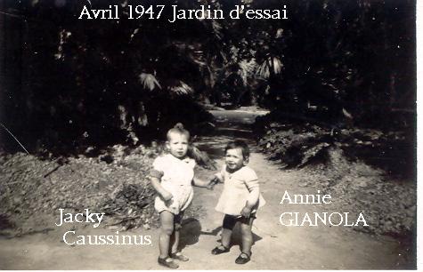 Annie et Jacky au jardin d'essai