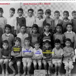 Ecole du stade  municipal  1952/53
