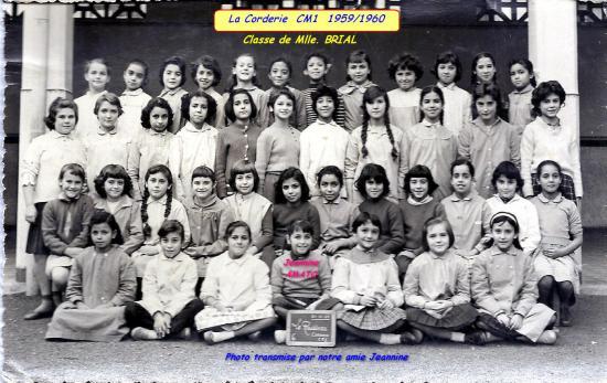 La Corderie CM1 1958/1959