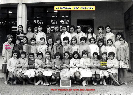 La Corderie CM2 1961/1962