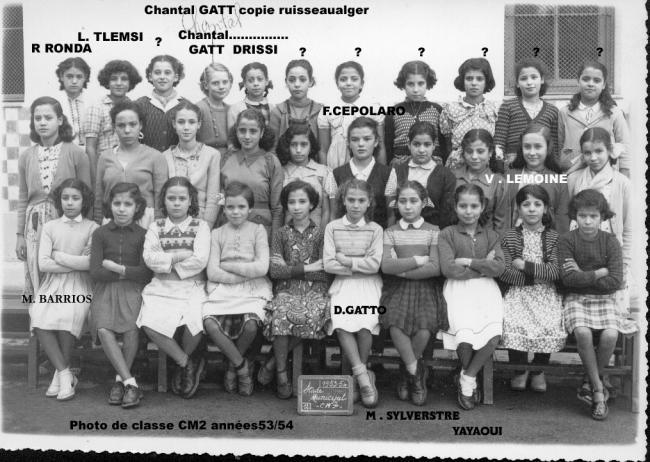 Photo de classe CM années 53/54