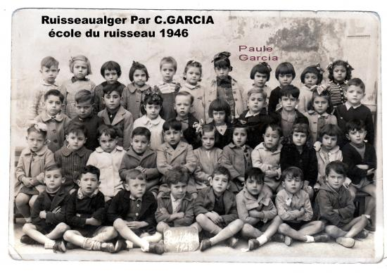 école du ruisseau 1946 par C.GARCIA